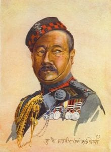 2nd Gurkha Rifles - Subedar Major Harkabahadur Thapa, Bahadur, OBI IDSM Honourary